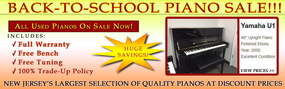 Back To School Piano Sale NJ