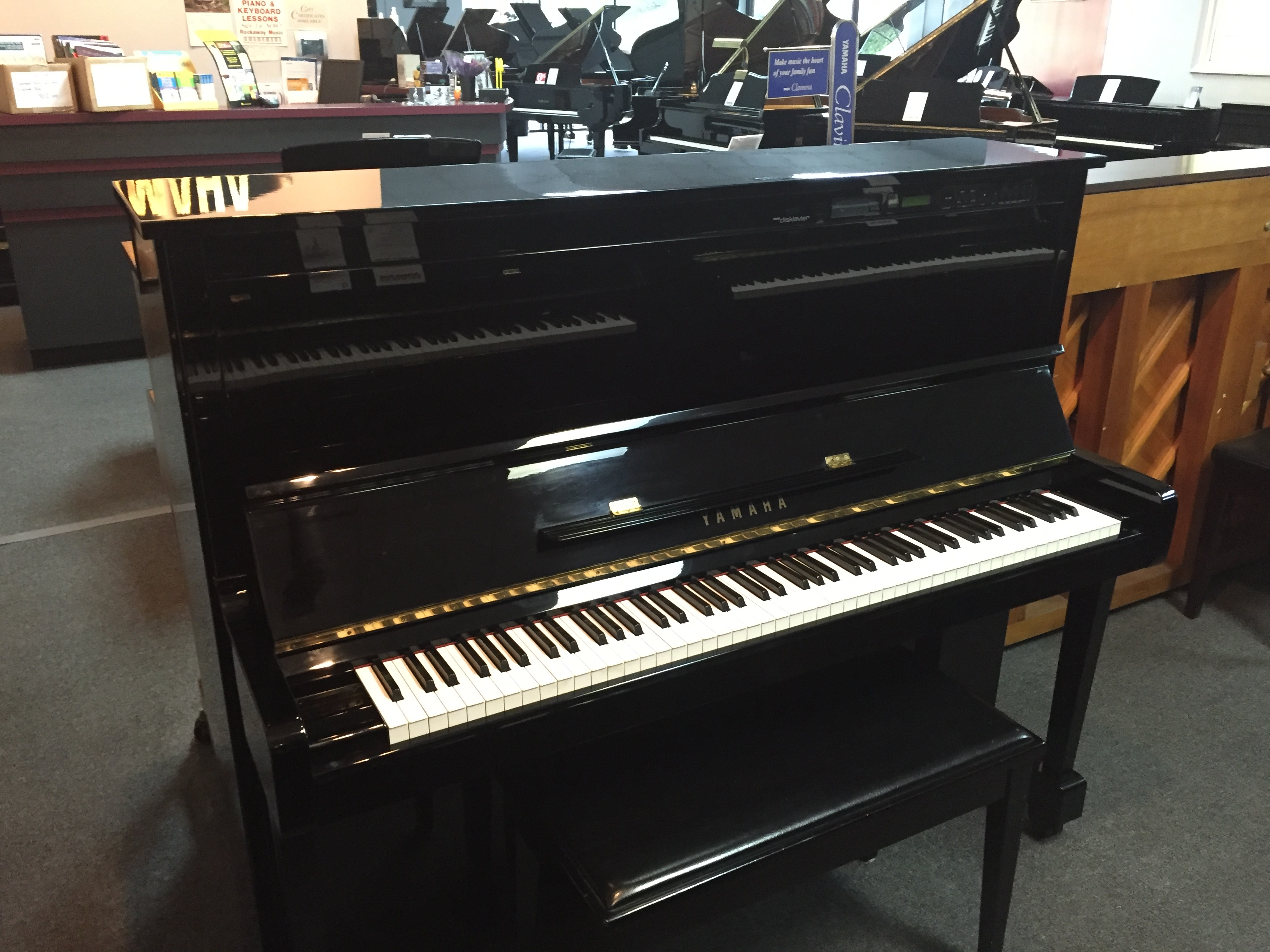 Used disklavier yamaha mx100b piano for sale nj for Yamaha pianos nj