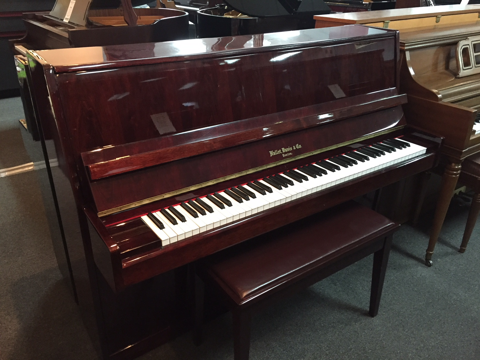 Used Acoustic  Hallet & Davis  Console Piano for sale NJ - image
